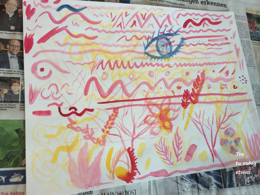 Aquarell Malerei Umgang mit Farben und Pinsel watercolour tutorials