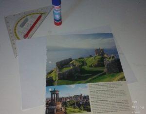 Landschaftsbild zum Ausschneiden aus Zeitschrift