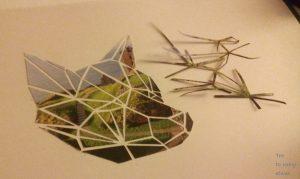 Geometrischer Fuchs ausgeschnitten