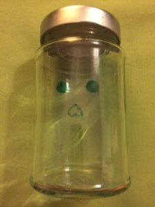 Halloweenglas Augen + Nase