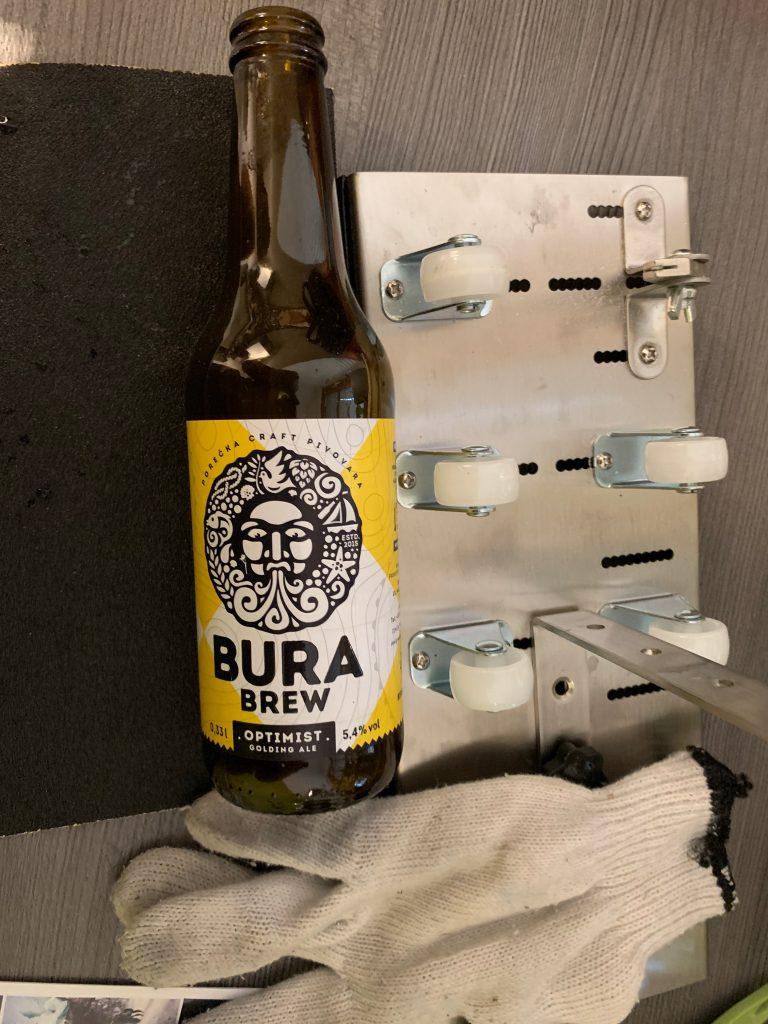 Bura Craft Beer mit Glasflaschenschneider