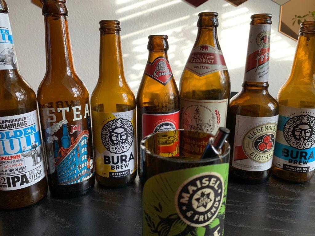 Welche Flasche wird als nächstes geköpft?