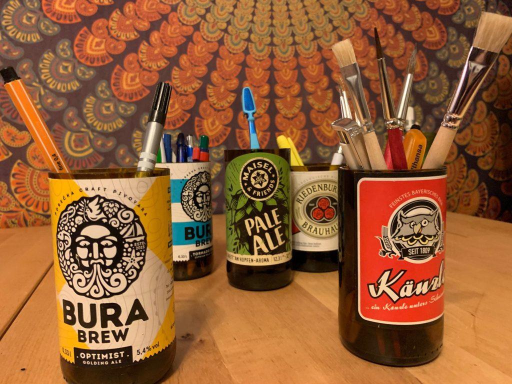Bierflaschen Upcycling Projekt