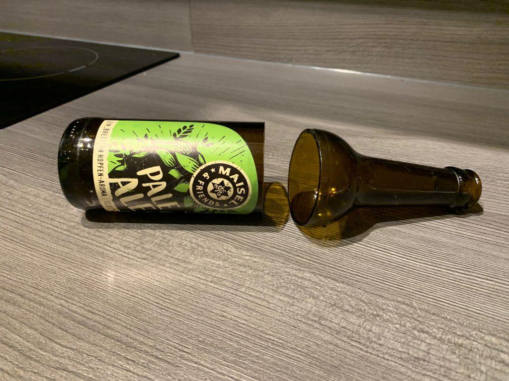 Durchtrennte Craft Beer Flasche