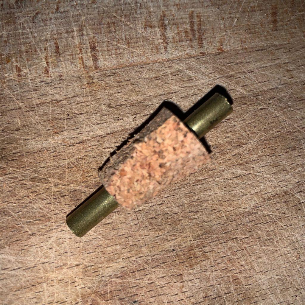 Kupferrohr mit Korken