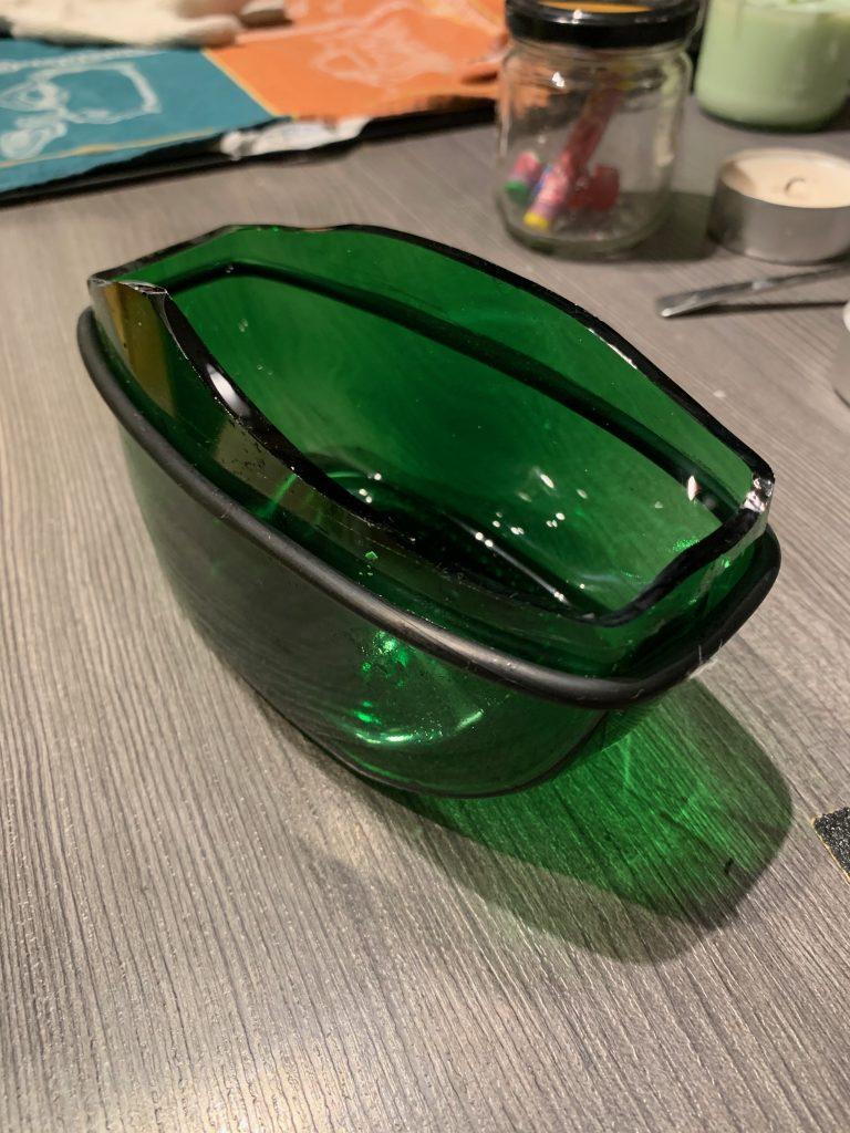 Fehlversucht mit Glasschneider