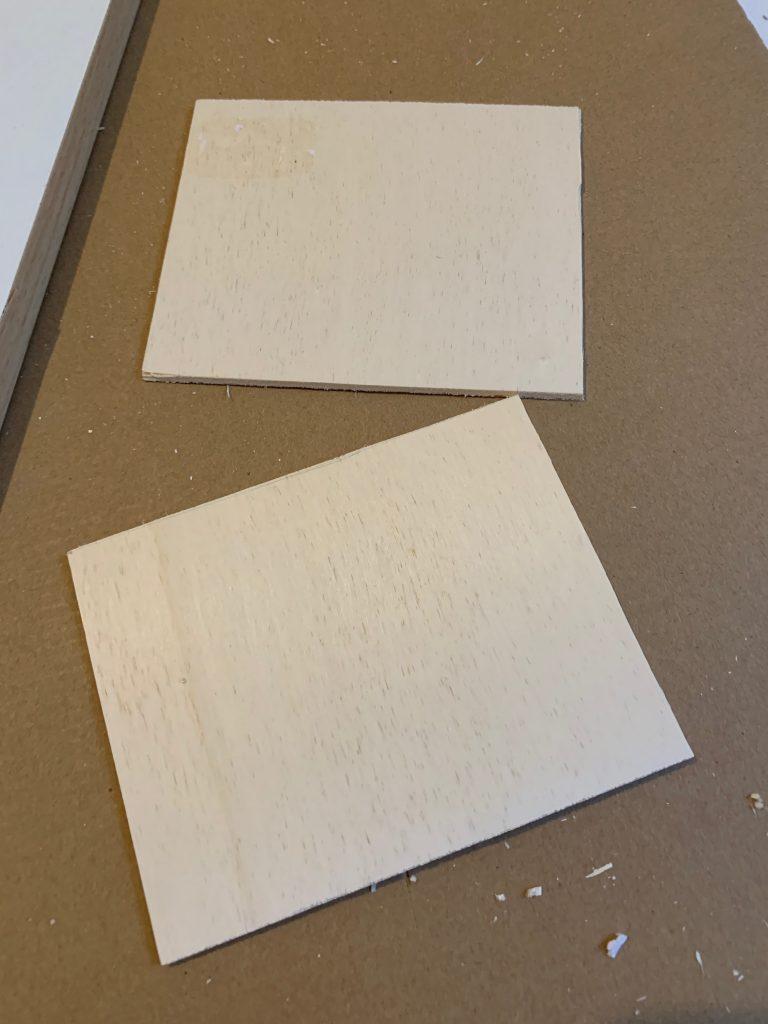 Zugeschnittene DIY Holz Postkarten
