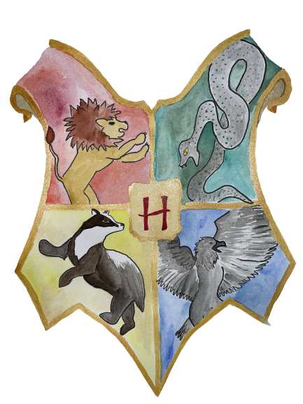 Großtes Hogwarts Symbol freigestellt