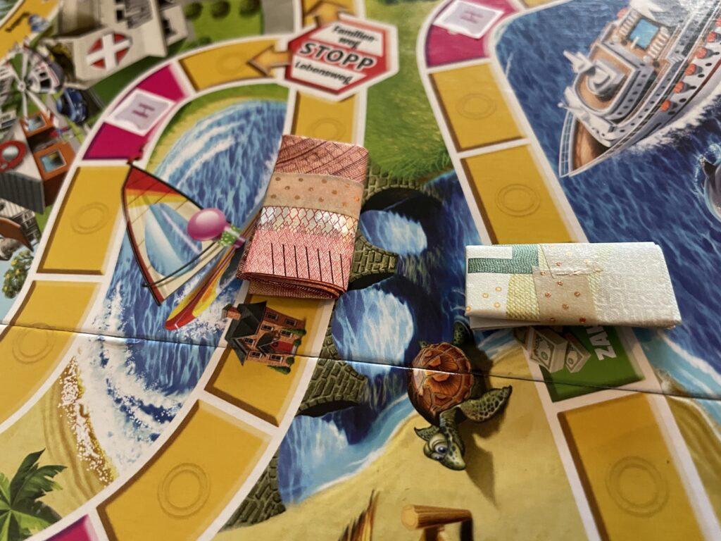 Spiel des Lebens individualisiertes Geldgeschenk
